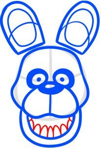 How to Draw Bonnie the bunny from Five Nights at Freddys
