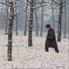 Catto Gallery | Mark Edwards Solo Exhibition 2016 | Man with the Red Scarf