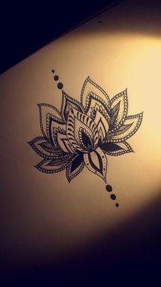 Lotus flower tattoo design by Chawana Godwin