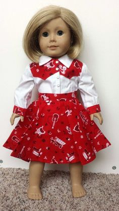 american dolls Items similar to 18 inch Doll Clothes, American Girl Doll Clothes, Cowgirl Top and Skirt, Halloween Costume on Etsy American Girl Outfits, American Girl Doll Costumes, American Girl Crafts, American Doll Clothes, Ag Doll Clothes, Doll Clothes Patterns, Doll Patterns, American Dolls, Sewing Patterns