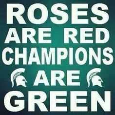 Roses are red, champions are green!