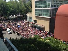How are the boys supposed to leave their hotel threw that crowd...