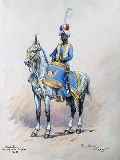 French; Imperial Guard, Dragoon Regt, Kettledrummer, 1805 by P.A.Leroux