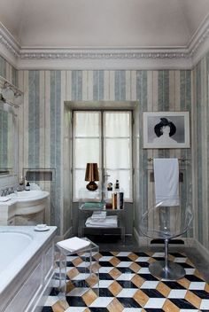 The New Bathroom: 5 Top Trends | Apartment Therapy Milan Apartment of Kartell CEO Claudio Luti for Vogue Casa Brazil