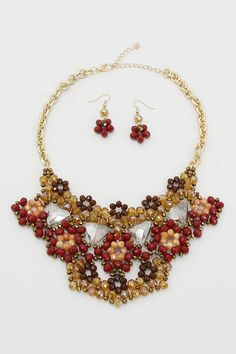 Laurel Statement Necklace in Topaz on Emma Stine Limited