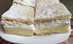 Čas přípravy: 45 min Čas vaření: 14 min SUROVINY Základ: 2 ks listového těsto Krém: 1 l mléka 250 g Vanilla Cake, Camembert Cheese, Bread, Desserts, Food, Tailgate Desserts, Deserts, Brot, Essen