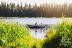Romantic Rowboat Engagement Photography - Prince George British Columbia