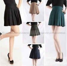 Women Fashion Classic Lattice Chart Checked Pleated Short Hot Skirt WSKT261