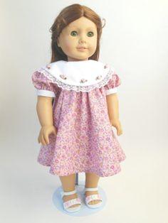 Dainty Pink Floral dress for American Girl 18 by NancysBigIdeas, $15.00