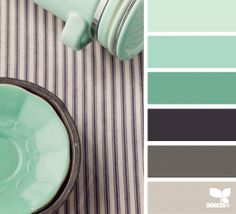 mint green gray color palettes - Google Search