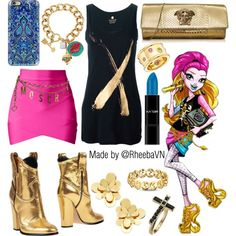 A fashion look from August 2015 featuring Horo tops, Casadei ankle booties and Versace clutches. Browse and shop related looks.