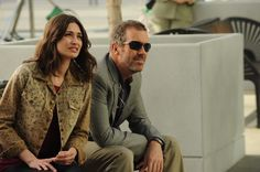 "House (Hugh Laurie) and his ""wife"" Dominika (guest star Karolina Wydra) in the ""We Need the Eggs"" episode of HOUSE on FOX."