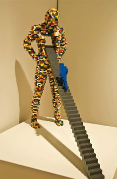 by: Nathan Sawaya  This Lego sculpture is from the Nathan Sawaya exhibit at the Flinn Gallery in Greenwich, Connecticut.