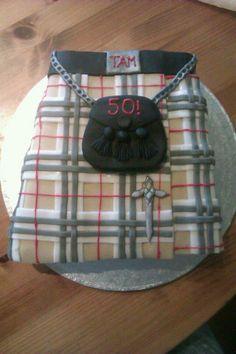 Scottish Tartan kilt cake, in the family's tartan too!