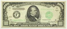 1934 One Thousand Dollar 1000 Bill Federal Reserve Bank Note Atlanta Green Seal | eBay
