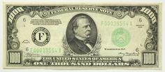 1934 One Thousand Dollar 1000 Bill Federal Reserve Bank Note Atlanta Green Seal | eBay