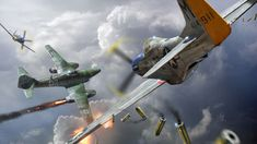 Mustang cazando a un Me-262. Más en www.elgrancapitan.org/foro