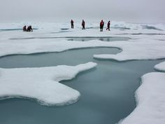 "ohscience: "" The terrain for the scientific work conducted by ICESCAPE scientists on July was Arctic sea ice and melt ponds in the Chukchi Sea. The five-week field mission was dedicated to. 10 Years After, Arctic Ice, Nasa Images, Climate Change Effects, Ulsan, Before Us, Save The Planet, Global Warming, Alaska"