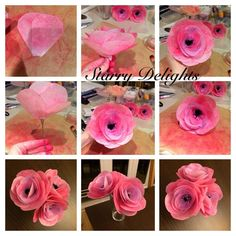 Rice/waffer paper flower Tutorial by Starry Delights