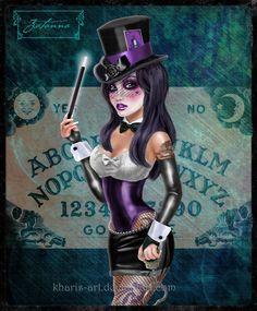 Gothic Zatanna by kharis-art.deviantart.com on @deviantART