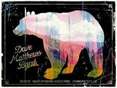 Dmb Colorado concert poster