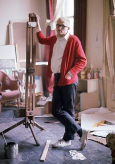 The great artist and snappy dresser David Hockney photographed...