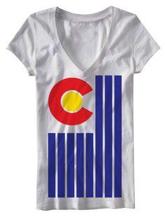 Colorado flag shirt www.Epiczeal.com Represent Colorado with his one-of-a-kind designs.