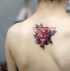 modern rose tattoo