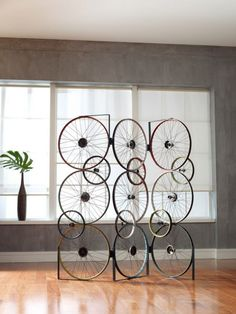 Unique bicycle part sculpture - 8 Ways to Use Recycled Bicycles in Your Home