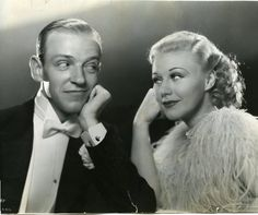 1935 Fred Astaire and Ginger Rogers Top Hat