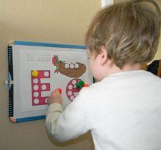 Tot School: Letter E (eggs)