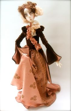 Adele   Cloth Art Doll OOAK  Handmade art doll.
