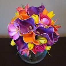Somewhere Over The Rainbow Wedding Bouquet - By How Divine - https://www.howdivine.com.au/store/product/somewhere-over-the-rainbow-artificial-wedding-bouquet