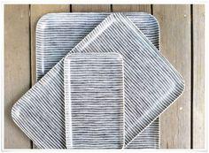 E-boutique lovecreativepeople.com | Plateau 'Linen' Fog Linen
