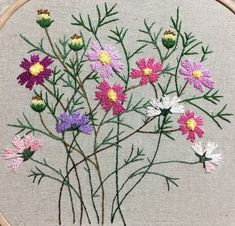 crewel embroidery kits for beginners Hand Embroidery Projects, Crewel Embroidery Kits, Floral Embroidery Patterns, Hand Embroidery Videos, Hand Embroidery Tutorial, Embroidery Flowers Pattern, Silk Ribbon Embroidery, Embroidery Techniques, Hand Embroidery Designs