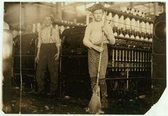 Young sweeper working in Anniston Yarn Mills,.  Location: Anniston, Alabama.