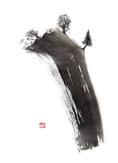 Svetlana Petrova Sumi E Painting, China Painting, Chinese Landscape Painting, Japanese Painting, Tinta China, Chinese Brush, Shadow Art, Samurai Art, China Art