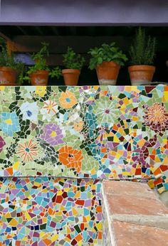 Mosaic patio #walls       #mosaic #art
