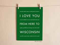 Give the Packer's Fan in your life a great gift that will make them smile: a unique Wisconsin art print. This wall poster would be great for a dorm room or man cave. Anyone you know with Wisconsin mem