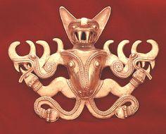 Pre-Columbian Art / Gold Bat Pendant - FJ.6203 Origin: Colombia Circa: 800 AD to 1600 AD