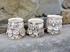 Kvetináče .... sovy Clay Set, Kids Clay, Ceramic Owl, My Art Studio, Candle Stand, Cup Design, Inspiration For Kids, Polymer Clay Crafts, Air Dry Clay