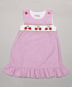 Look at this #zulilyfind! Red Strawberry Bubble Romper - Infant & Toddler by Classy Couture #zulilyfinds