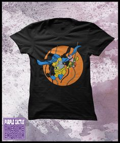 Winnie the pooh tshirt, Women's - Pooh and piglet dressed up as Batman and Robin. $25.50, via Etsy.
