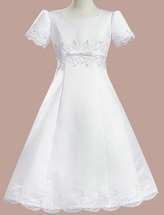 Girl White First Communion Dress Gown Plus Size 10X 20X
