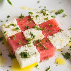 Watermelon and Feta Salad with a Lime/Olive Oil dressing and fresh blasts of Mint. An incredibly flavoursome and beautifully simple way to serve a watermelon salad. The post Watermelon & Feta Salad appeared first on Best Pins for Yours. Cooking Recipes, Healthy Recipes, Salad Recipes, Snacks Recipes, Summer Salads, Summer Drinks, Appetizer Recipes, Appetizers, Food Inspiration