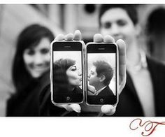 That right there is a super cute engagement photo!