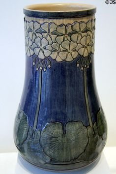 Newcomb College Pottery vase (1906) by Mazie Teresa Ryan at LACMA. Los Angeles, CA.