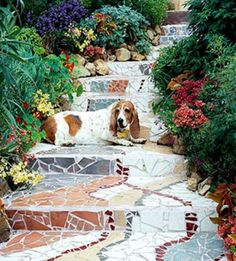 Mosaic stairway... so beautiful!