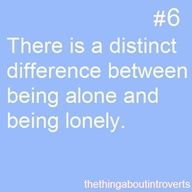 An extremely distinct difference. #introvert