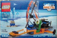 Lego Arctic Ice Surfer by LEGO. $29.90. Contains a total of 42 pieces. Amazing Ice Surfer vehicle building play set from Lego. Recommended for ages 6 to 10 years. Comes with arctic themed mini figures. Raise the sail and zoom to your next adventure. Here is your chance for your arctic mini figures to surf the ice with their own ice surfer. It's the fastest way ever to travel over ice. Raise the sail and let the Arctic breeze zoom you on your adventures.